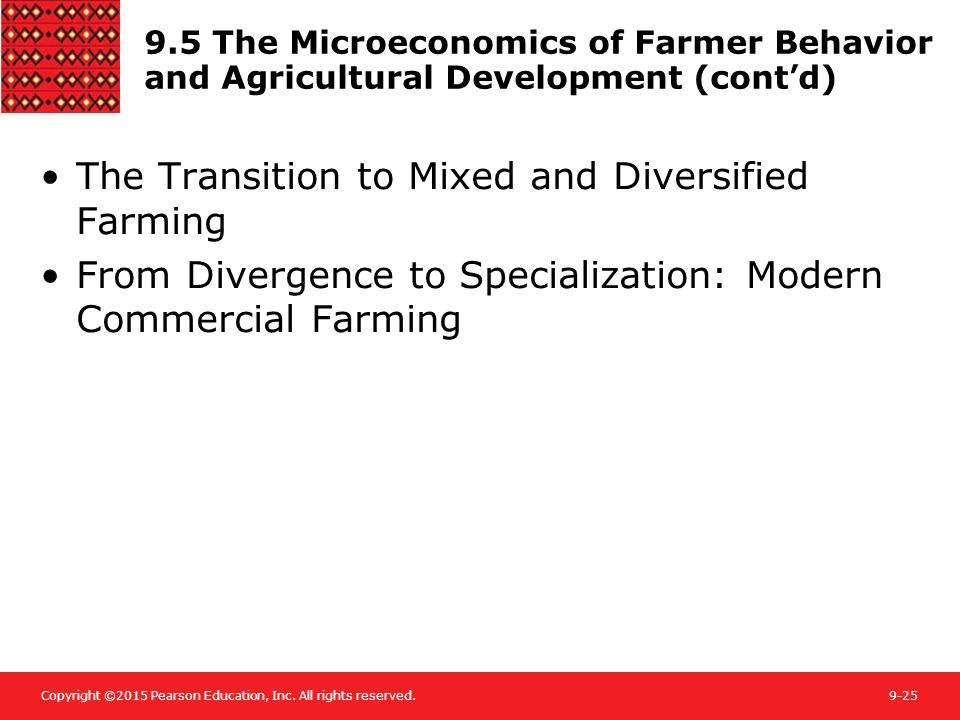 The Transition to Mixed and Diversified Farming