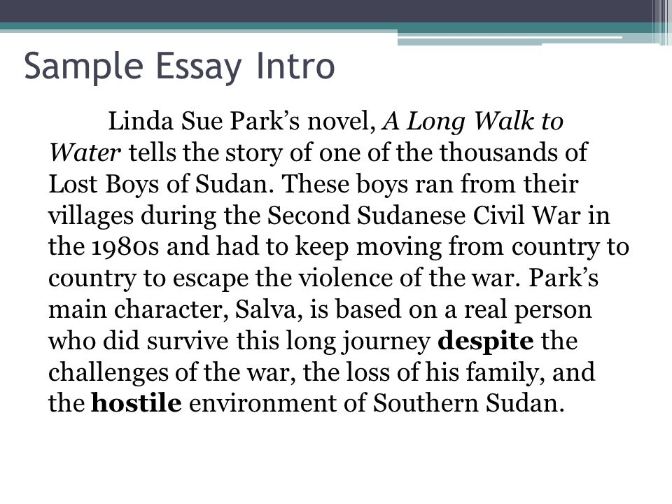 introductions hook to capture the reader s interest and attention sample essay intro