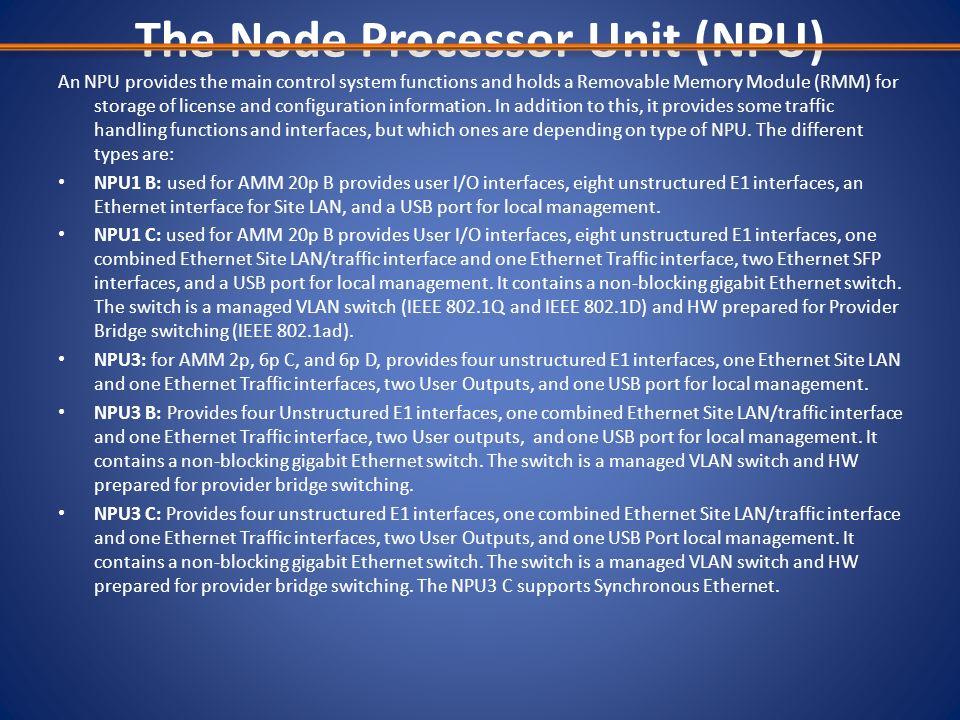 The Node Processor Unit (NPU)