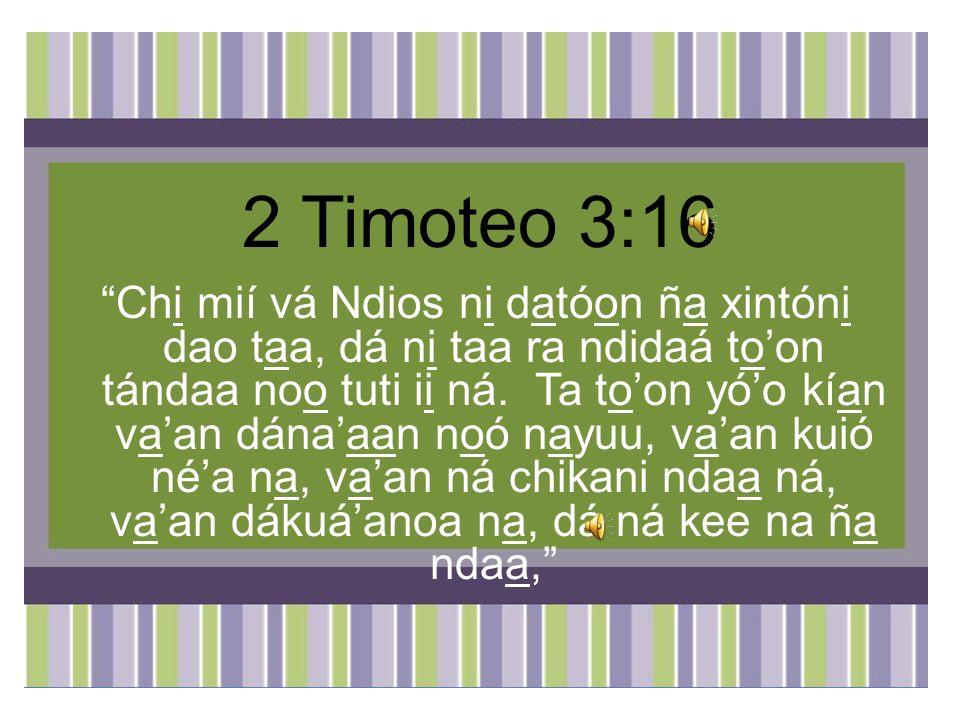 2 Timoteo 3:16