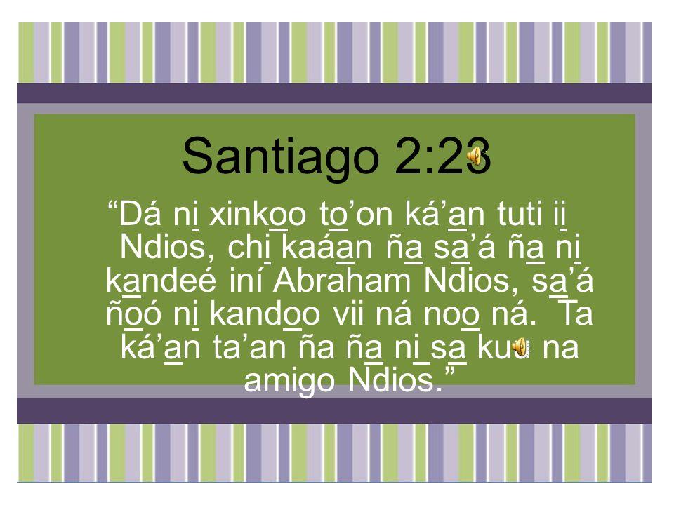 Santiago 2:23