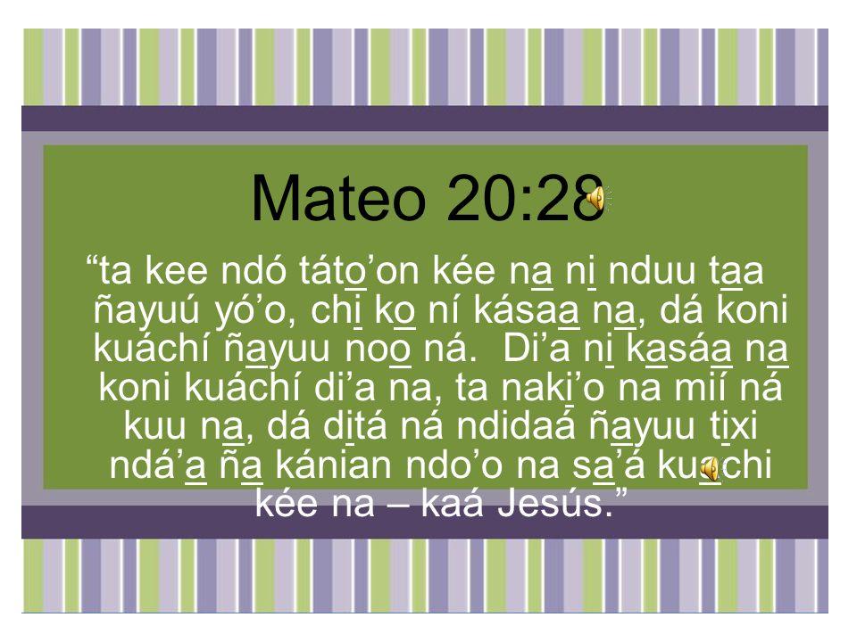 Mateo 20:28