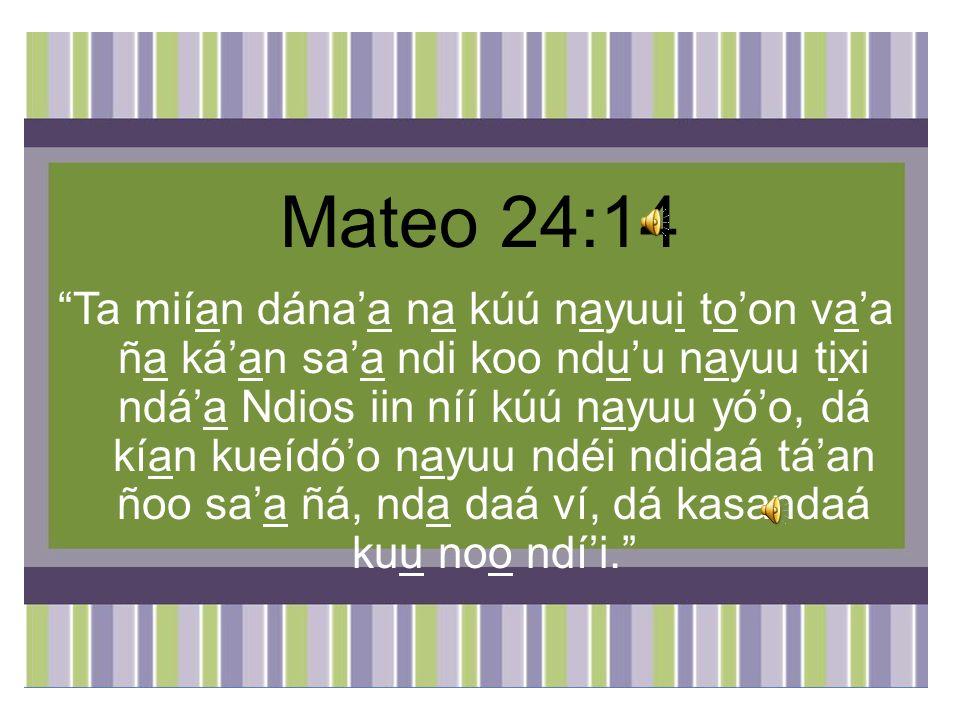 Mateo 24:14