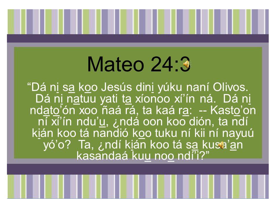 Mateo 24:3