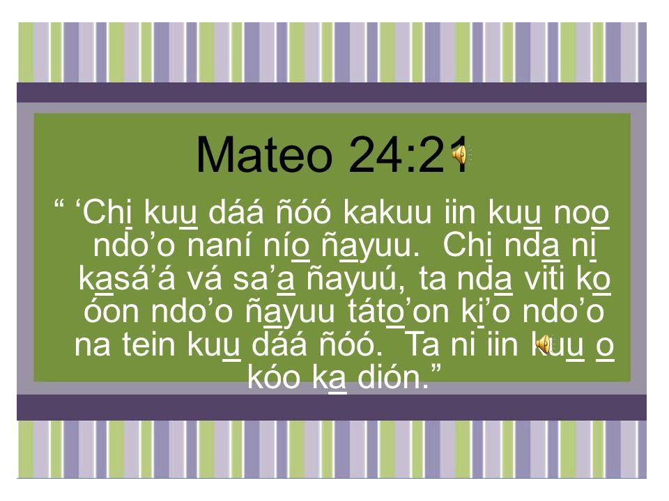 Mateo 24:21