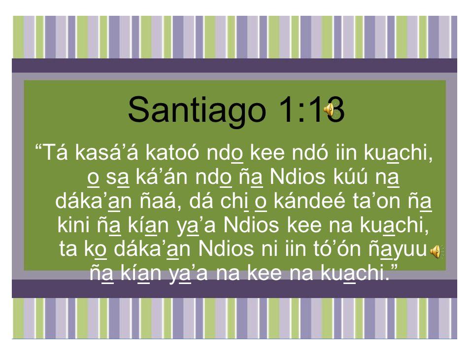 Santiago 1:13