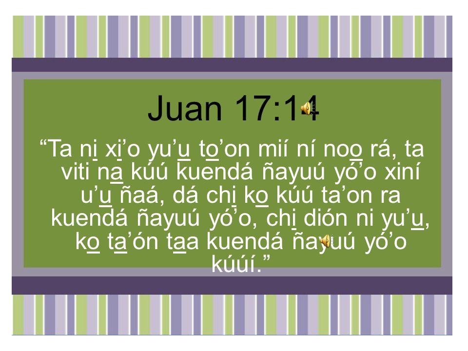 Juan 17:14