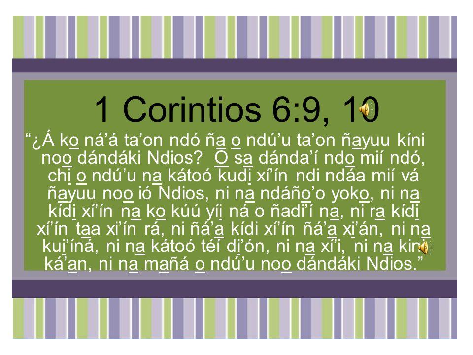 1 Corintios 6:9, 10