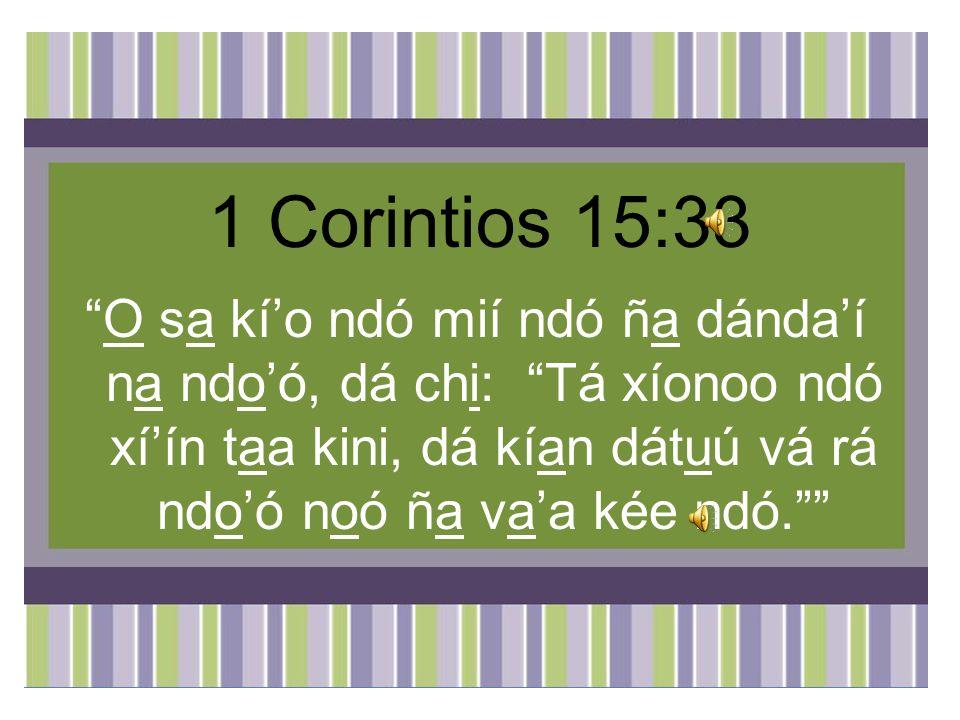 1 Corintios 15:33