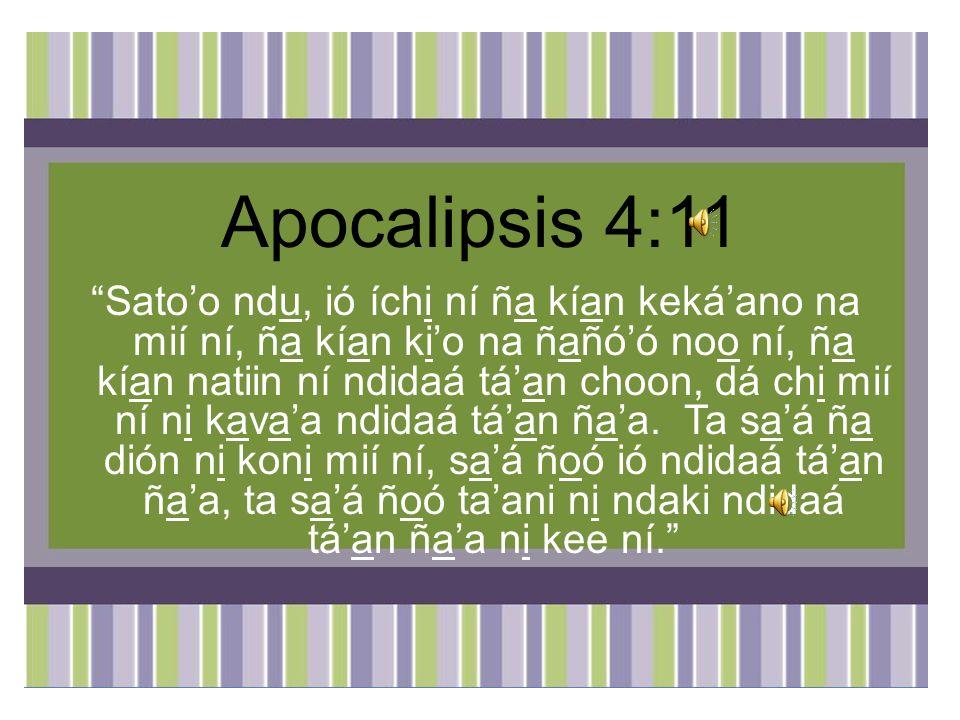 Apocalipsis 4:11