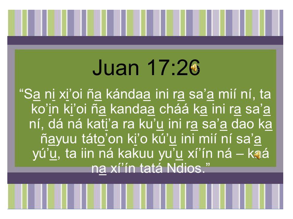 Juan 17:26