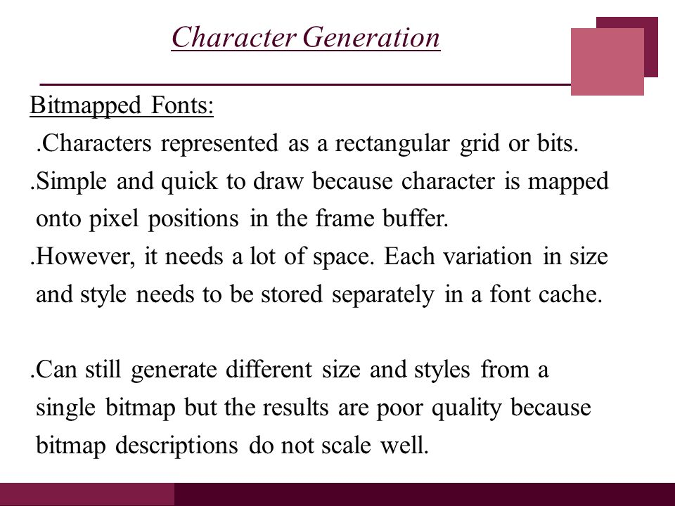 Character Generator Computer Aided Design : Attributes of graphics primitives chapter ppt video
