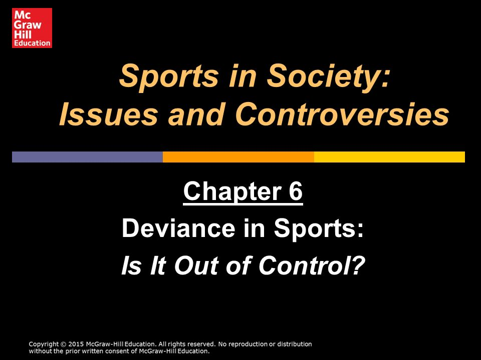 deviance in sport View homework help - sport deviance and the mediadocx from kines 2600 at utah deviant underconformity nfl players and coaches are all staring to kneel and lock arms during the national anthem more.