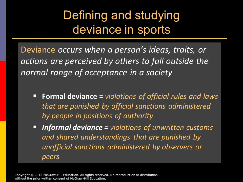 the issue of deviance among sports figures Trained sports leaders counselled participants in selected activities,  sport,  physical activity and anti-social behaviour in young people (australia, 2003.