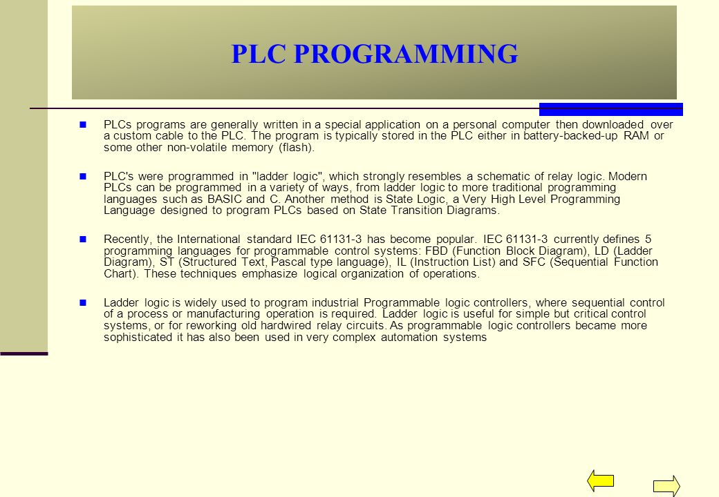 Pic Plc Controllers Are Instruction-based