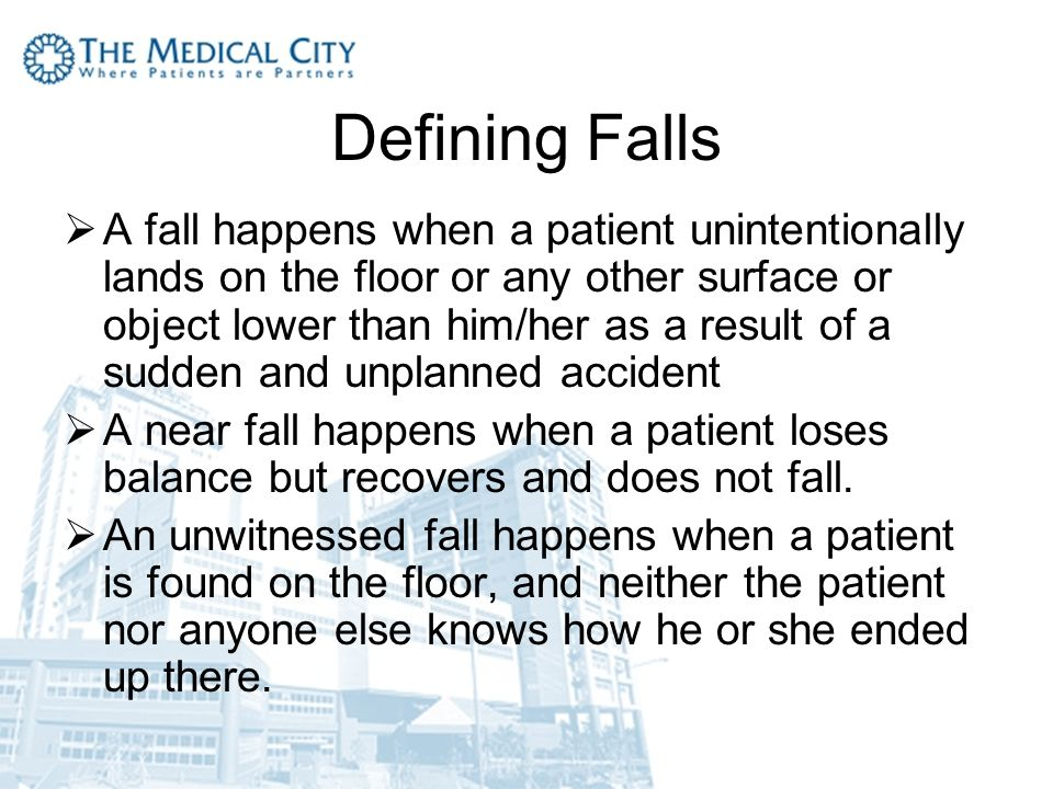 Preventing Patient Falls Ppt Video Online Download