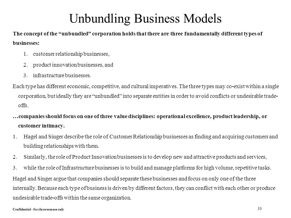 unbundled business models arms focus on Business model canvas 6 great business models to consider for a startup a business model explains which consumer pain your startup chooses to relieve.
