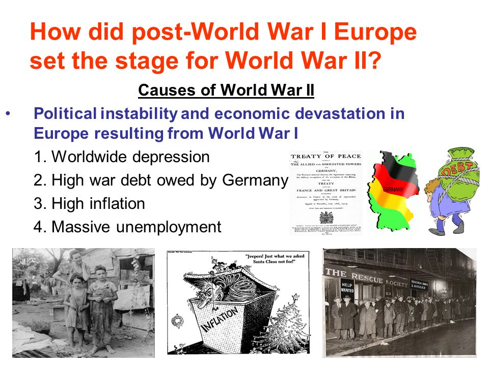 the main underlying causes of the for world war i in europe The argument which follows suggests that europe in 1914 was ripe for war to was not a major cause of world war three other underlying causes of the war:.