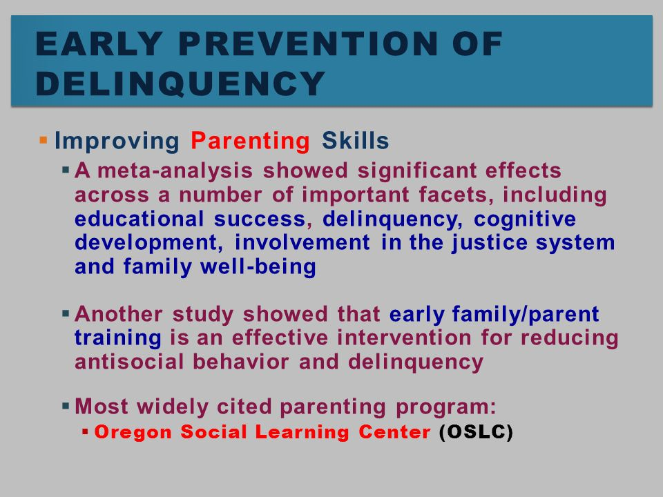 family effects on juvenile delinquency The influences of family structure on delinquency essay 559 words   3 pages this paper is based off of the article titled, the effects of family type, family relationships and parental role models on delinquency and alcohol use among flemish adolescents.