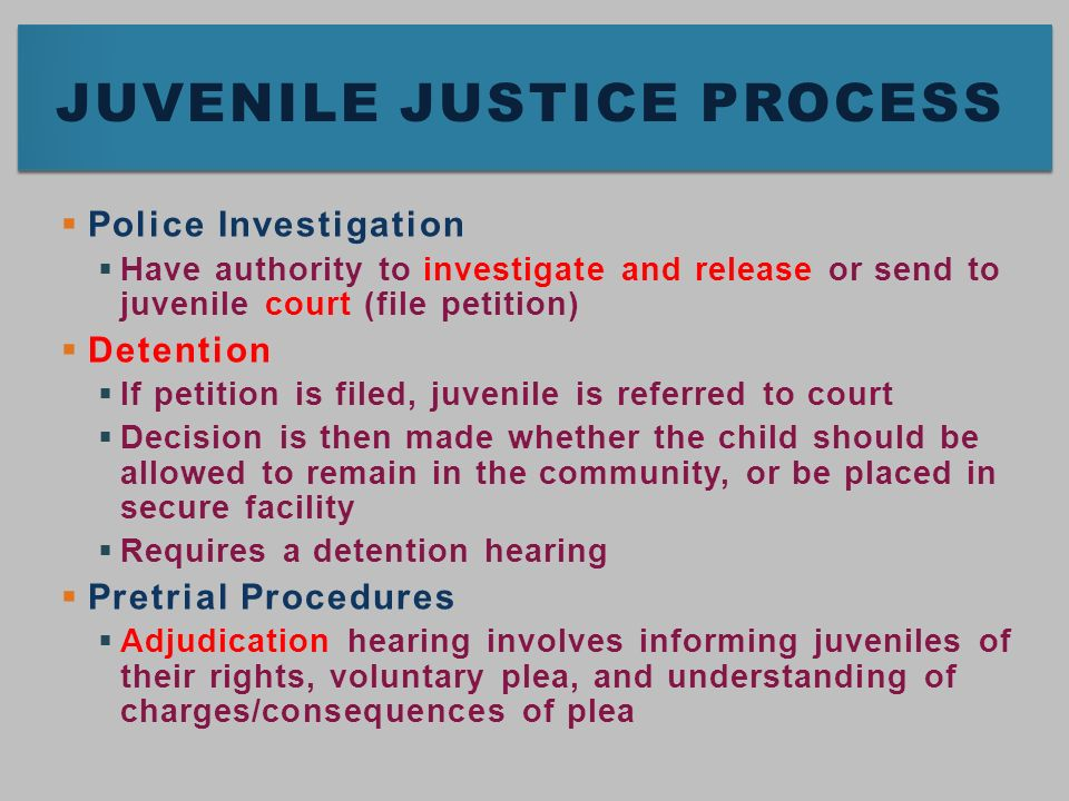 Evolution of Juvenile Justice - ppt video online download