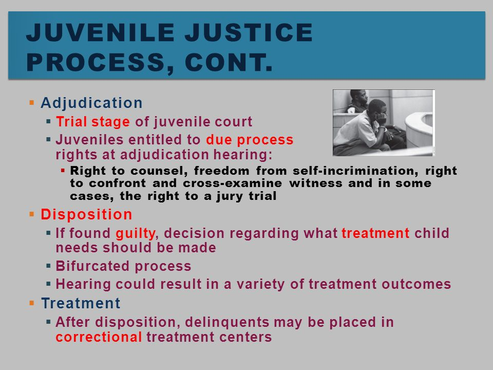 adjudication of juveniles in the justice