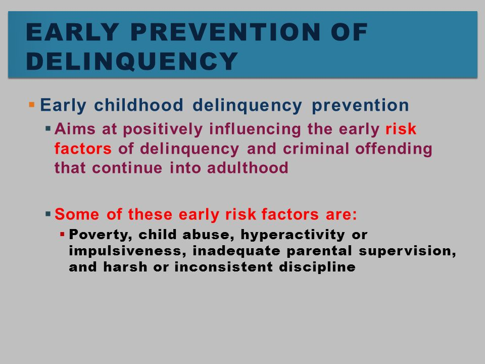 abuse and juvenile delinquency An in-depth look at prevention, treatment, and risk assessment as it relates to juvenile delinquency.