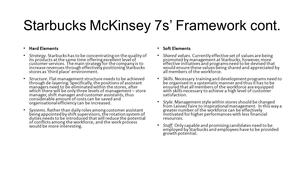 Case study on 7s framework of mckinsey
