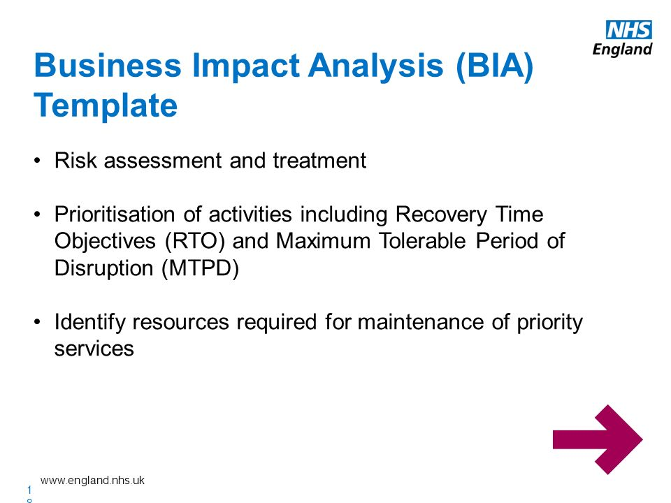 it business impact analysis template - nhs england emergency preparedness resilience and