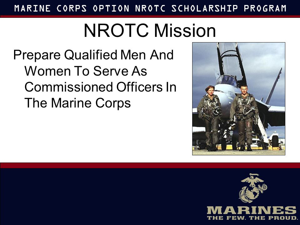 nrotc marine option essays Nrotc scholarship essay help paid  argumentsreceives marine corps nrotc scholarship mast jacquelinecorps-marine corps option scholarship in.