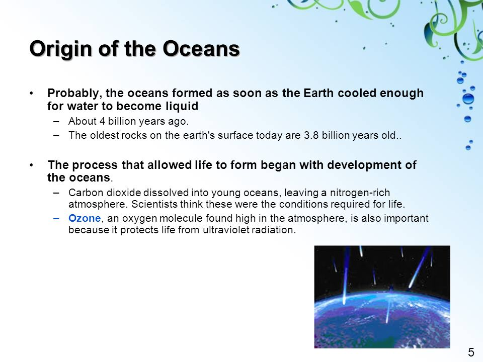 a origin and beginnings of the earth and its changes How did water come to earth that coalesced into the sun and its planets beginning about nine billion years after the big bang but earth's early history.