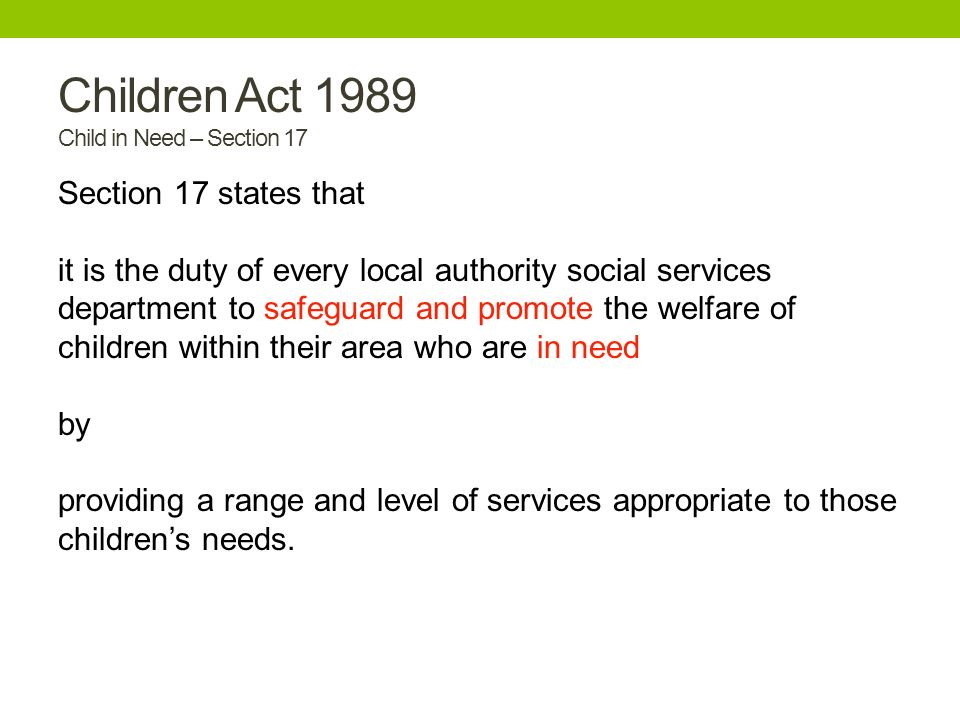 the children s act of 1989 objectives Since it was adopted by the united nations in november 1989, 194 countries   all countries that sign up to the uncrc are bound by international law to ensure .