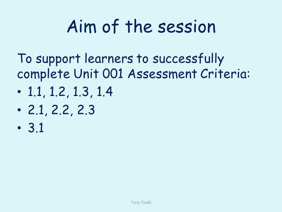 Unit of competency details