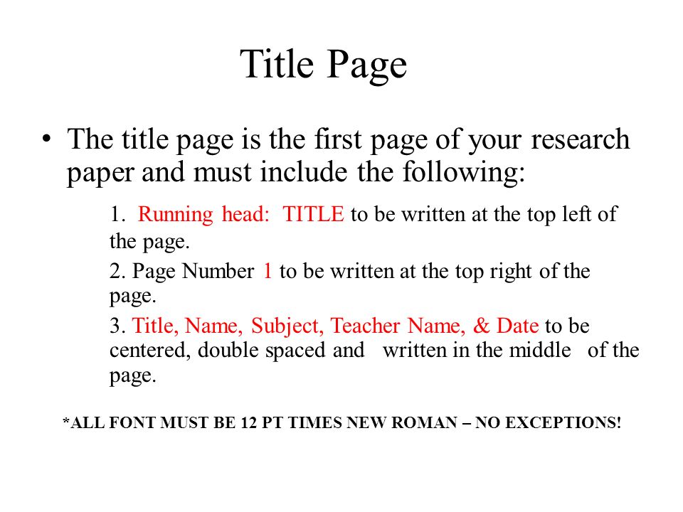 "title page format research paper Select format | paragraph from  page"" apa papers require a title page in the top half of the page, include all information shown below, centered."