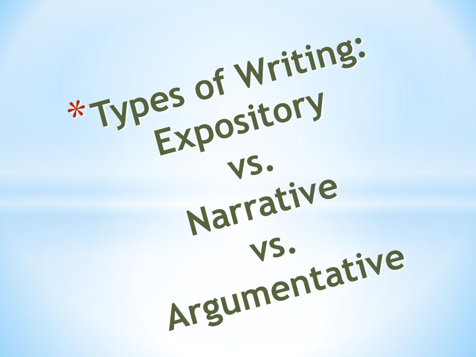 Personal Essay Samples For High School  Types Of Writing Expository Vs Narrative Vs Research Proposal Essay Example also Essays Papers Types Of Writing Expository Vs Narrative Vs Argumentative  Ppt  Essays About Business