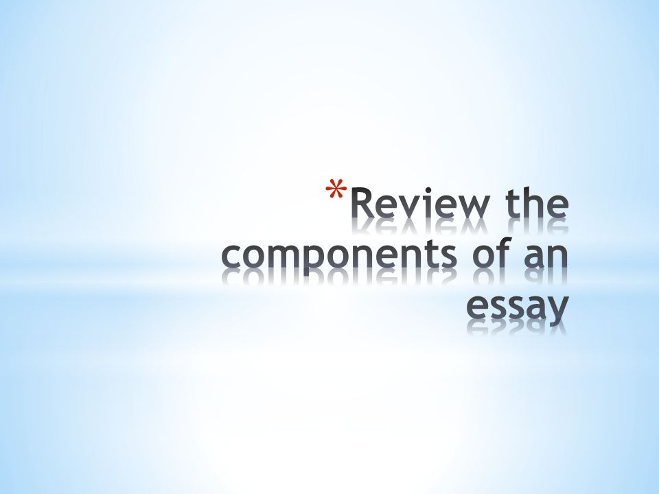 components of an essay outline