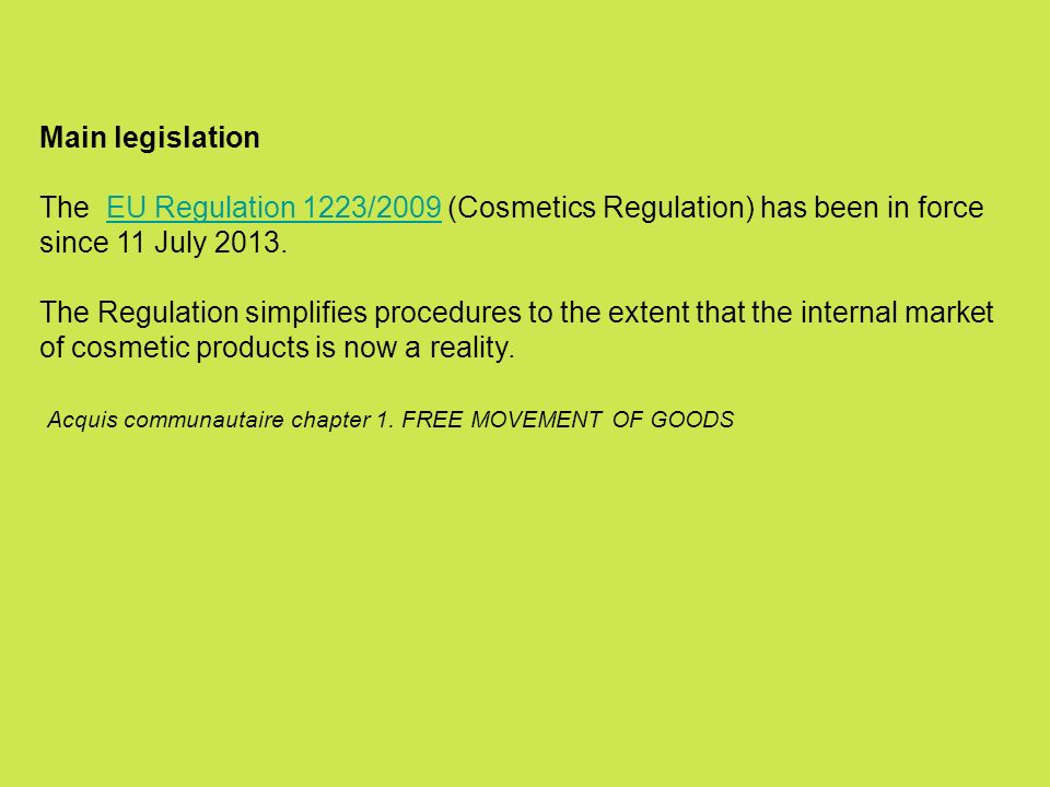 Regulation 1223/2009