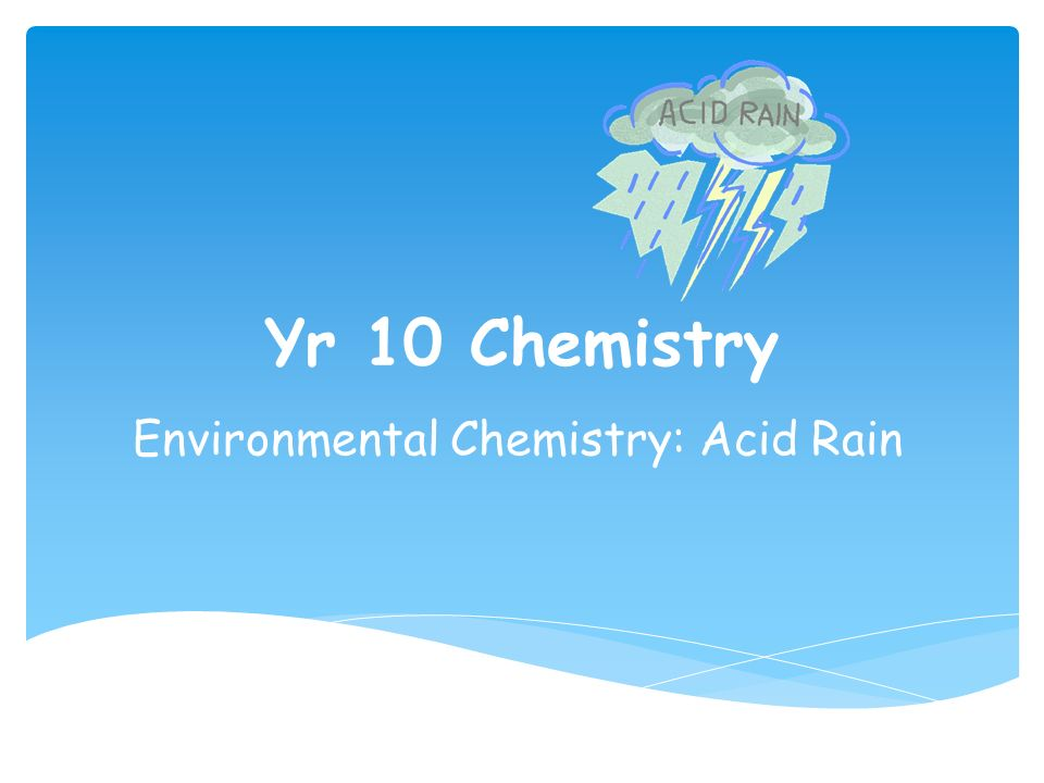 HSC Chemistry – The Acidic Environment – dot point notes