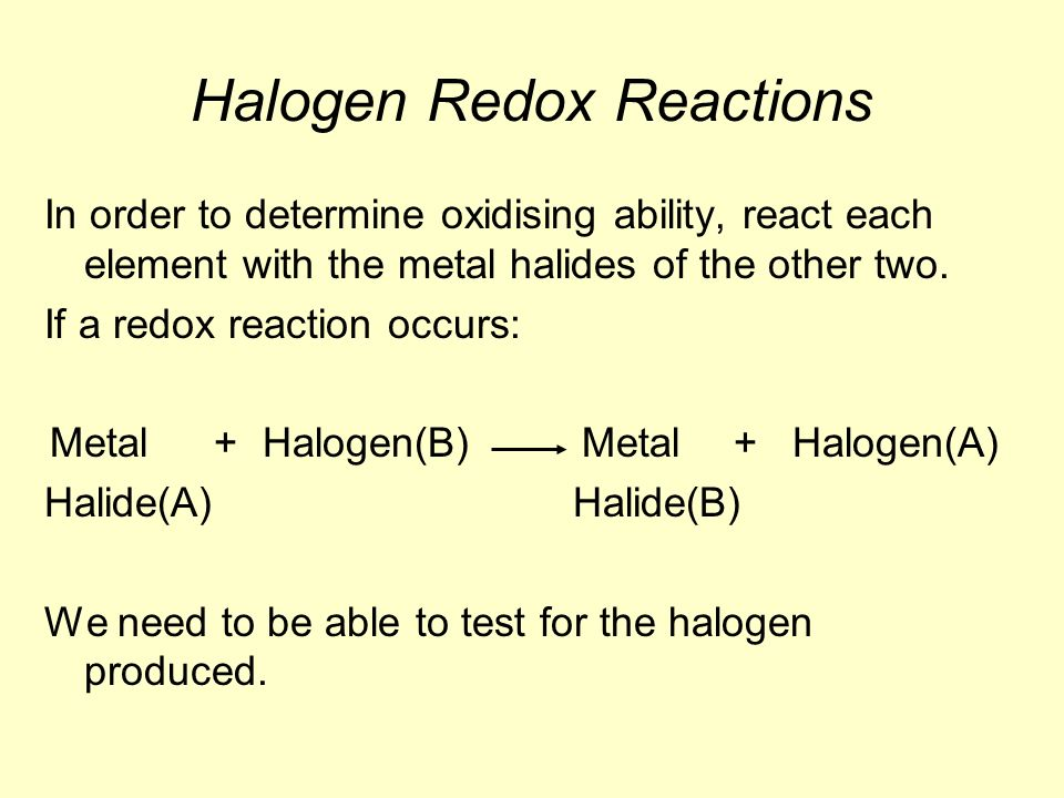 element test of halogen
