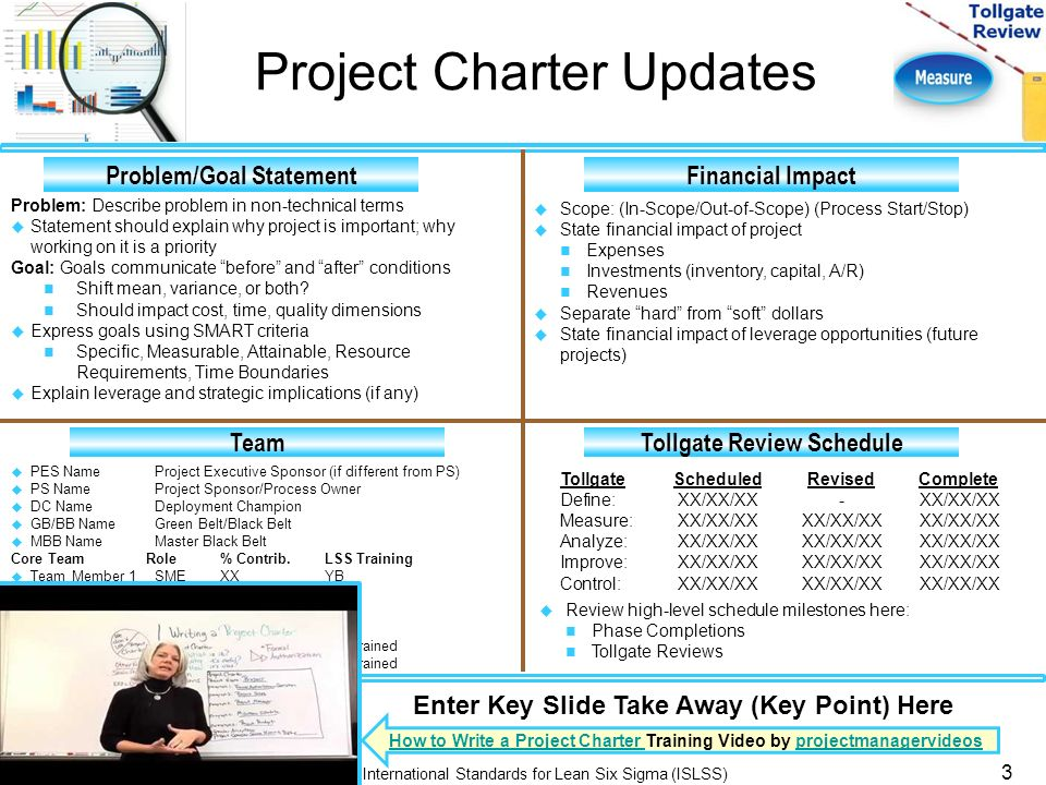 Six Sigma Project Charter Template Ppt Image Gallery  Hcpr