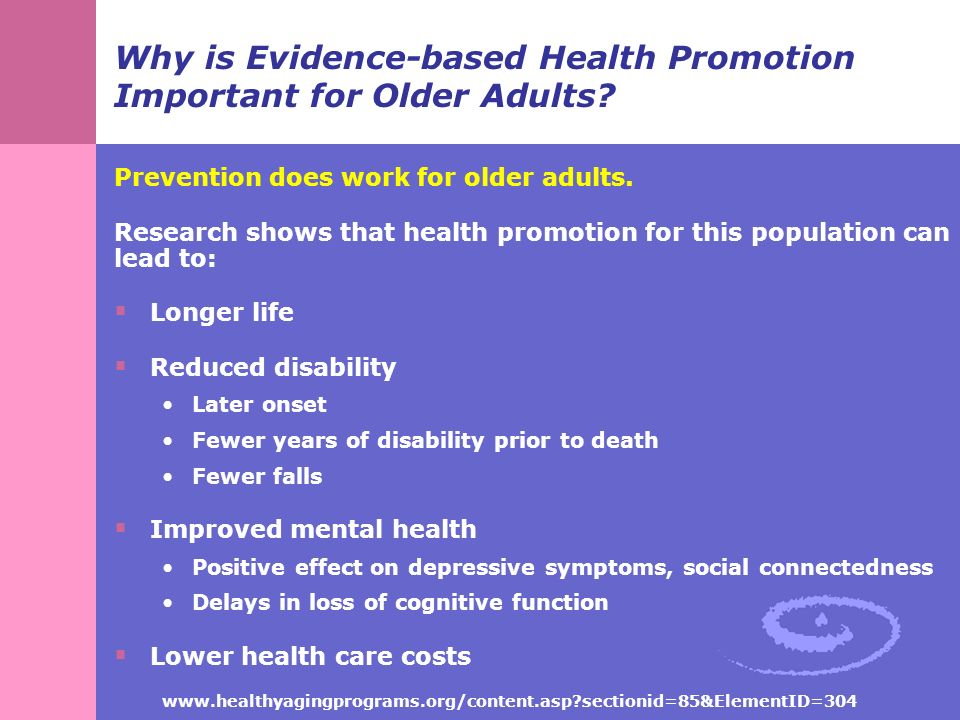 health promotion for older adults