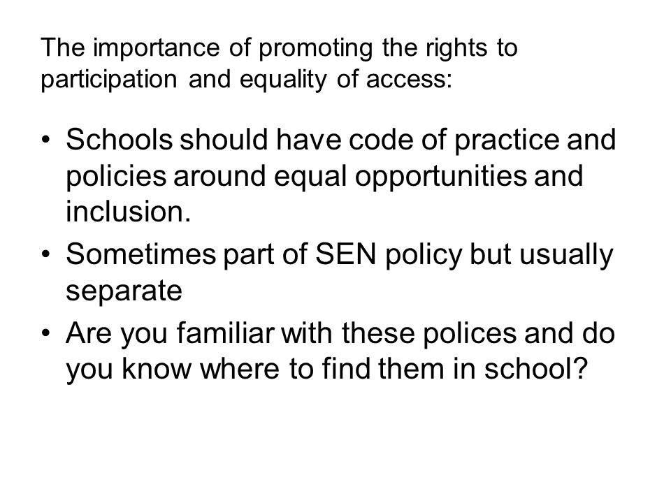 sch 33 equality and inclusion in 3 brookside primary school – equality, diversity and inclusion policy 1 introduction brookside primary school is committed to valuing diversity by providing.