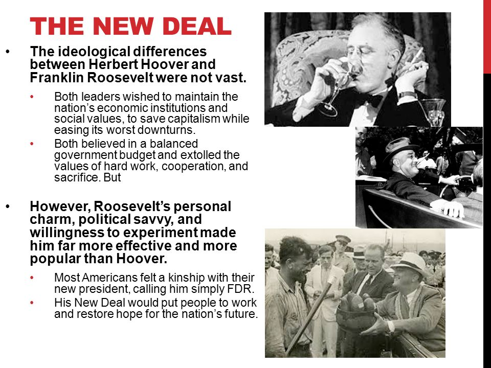 an introduction to the history of presidents hoover and roosevelt Herbert hoover was born which was the largest peacetime tax increase in history but was adopted by president franklin d roosevelt and greatly.