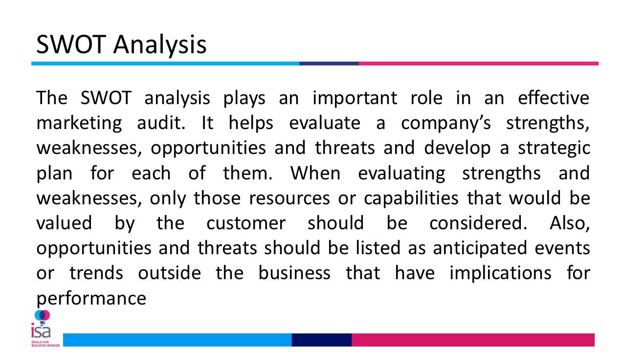swot analysis a marketing audit 2018-8-15  marketing objectives marketing audit  what is a swot analysis in marketing plan what is a swot analysis used for how to do a swot analysis in marketing.