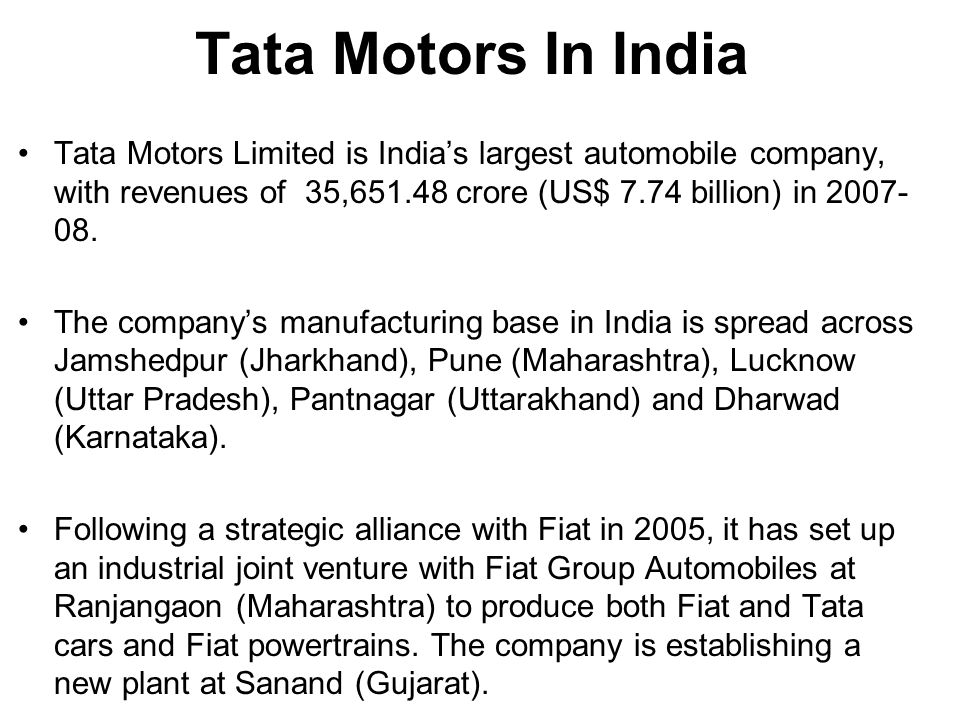 tata case Tata group early 1990's as a confederation of loosely connected firms this case is the rise of a new ceo tata group, ratan tata, and his attempts to strengthen the.
