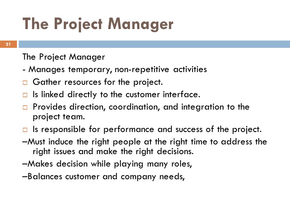 project management non repetitive An introduction to project management  the operations of an organization are continuing and repetitive activities that are.