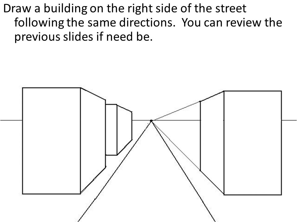 One point perspective city drawing a tutorial ppt video for Building drawing online