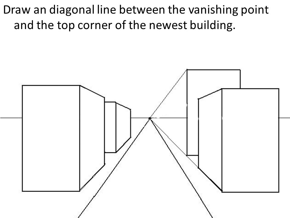 Drawing Lines Between Divs : One point perspective city drawing a tutorial ppt video