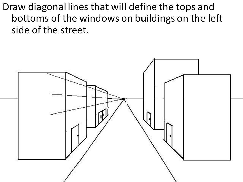 Diagonal Line Definition In Art : One point perspective city drawing a tutorial ppt video
