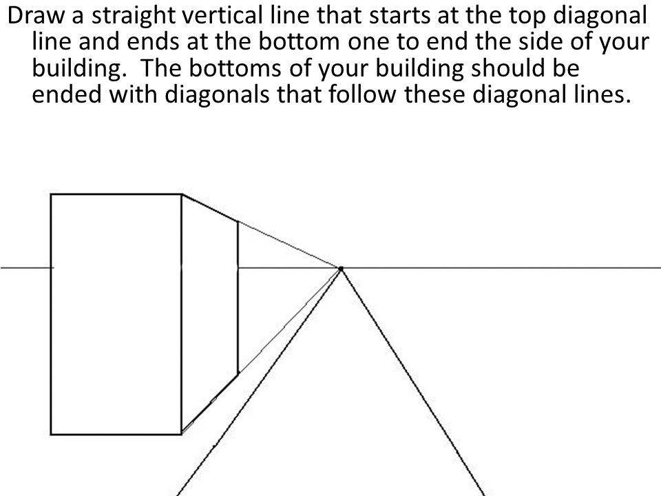 Draw Straight Line Artrage : One point perspective city drawing a tutorial ppt video