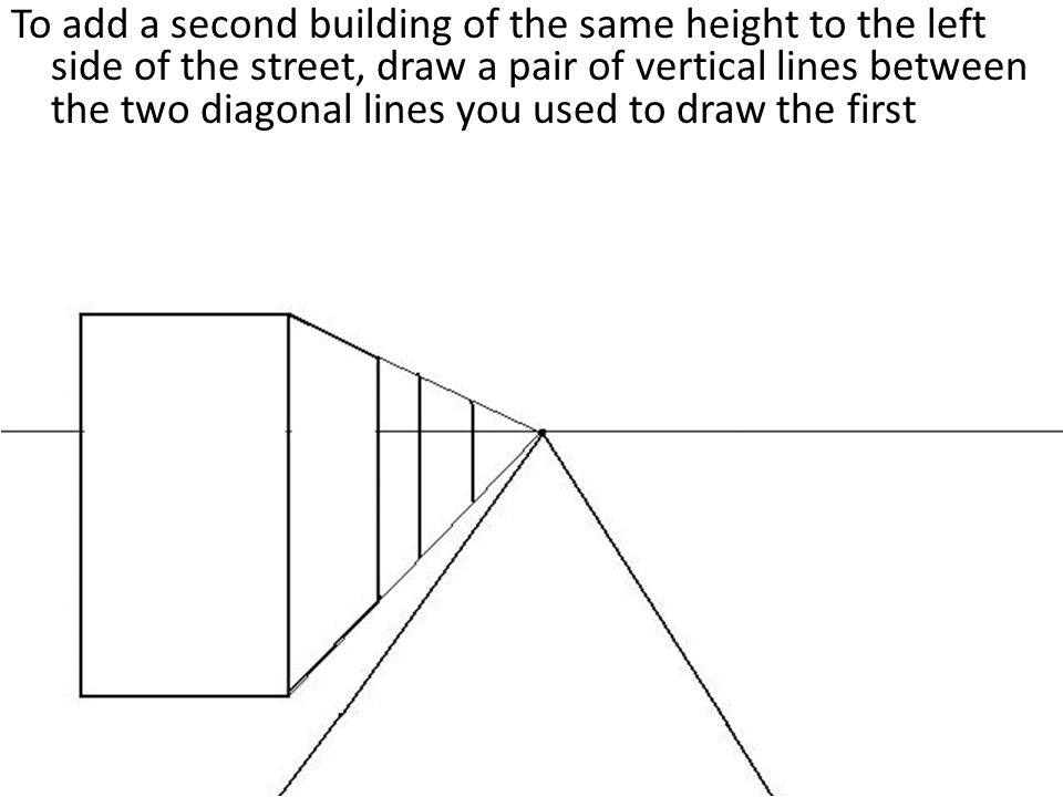 Drawing Lines Between : One point perspective city drawing a tutorial ppt video